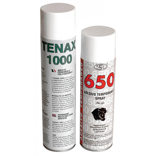 Temporary spray adhesive