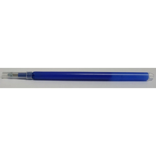 Refillable pen with heat: Blue color