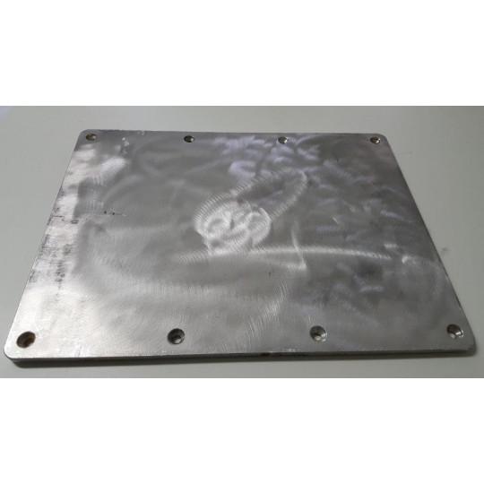 Aluminum sheet - Dim. 530 x 370 x 20