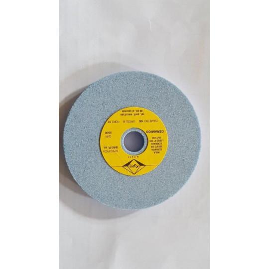 Pair cylindric grinding stone 100x8x15 azure CAMOGA (C420-C520)