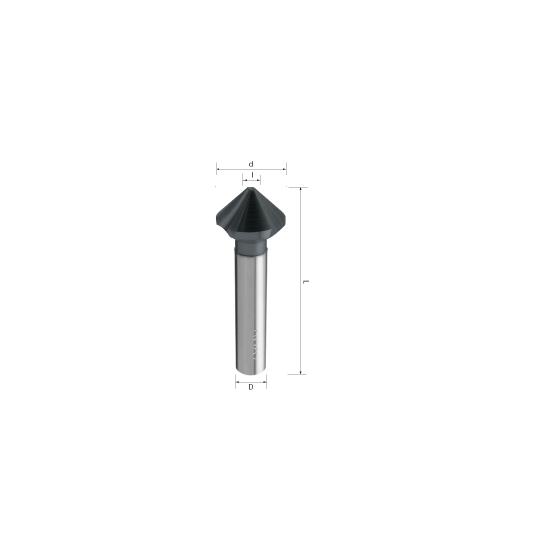 Countersink plastic material 45° i 4 d 12 D 4 L 6