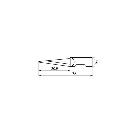 Blade 47090 - Max. cutting depth 21 mm