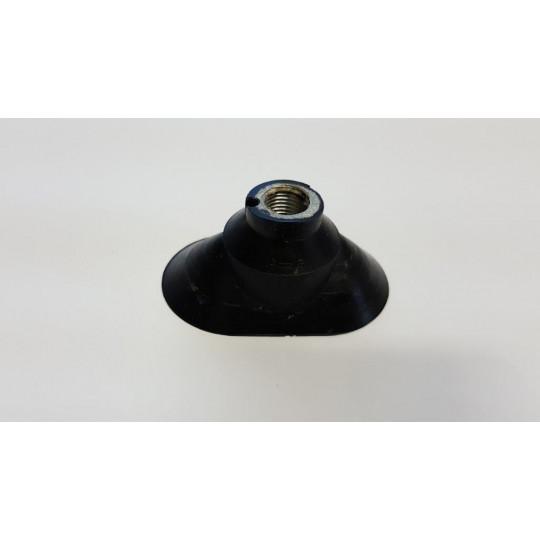 Black sucker - h 30 mm - Ø1 50 mm - Ø2 30 mm