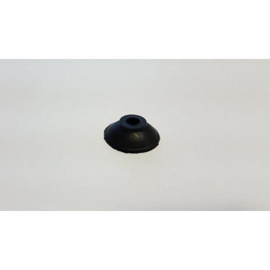 Black sucker - h 8 mm - Ø 25 mm