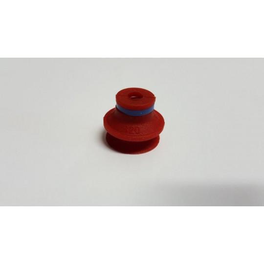 Red sucker - h 20 mm - Ø 20 mm