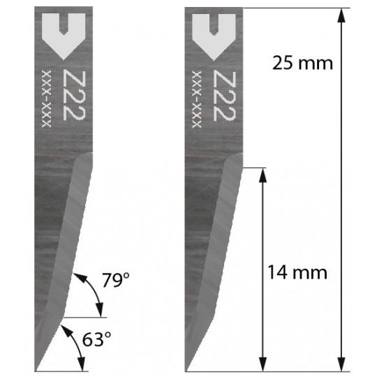 Blade 3910315 - Z 22 - Max. cutting depth 14 mm