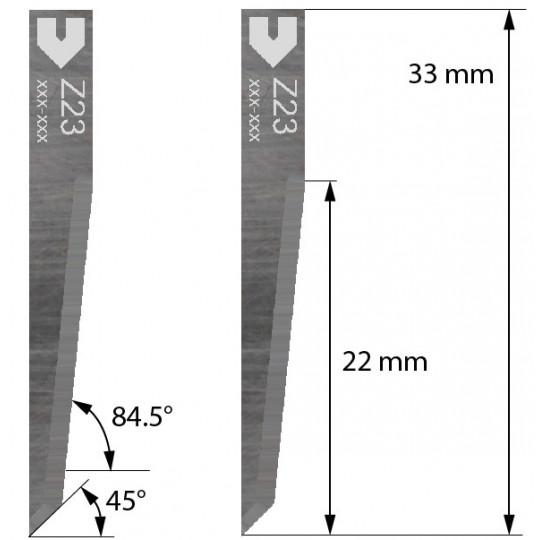 Blade 5005560 - Z 23 - Max. cutting depth 22 mm