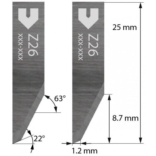 Blade 3910317 - Z 26 - Max. cutting depth 8.7 mm