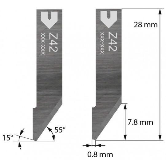 Blade 3910324 - Z 42 - Max. cutting depth 7.8 mm