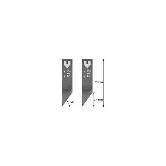 Blade Zund compatible - 3910306 - Z16 - Cutting depth until to 7.4 mm