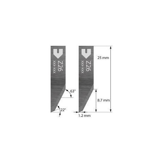 Blade Zund compatible -3910317 - Z26 - Cutting depth until to 8.7 mm