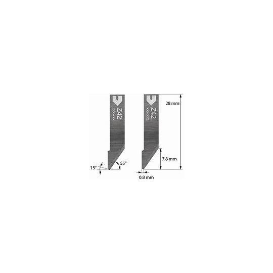 Blade Zund compatible - 3910324 - Z42 - Cutting depth until to 7.8 mm