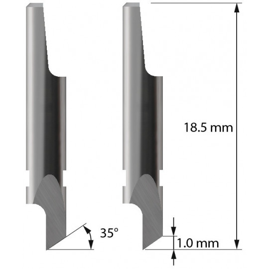 Blade 3910110 - Z2 - Max. cutting depth 1 mm