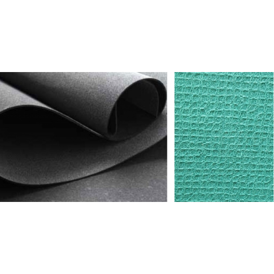 Extra Grey/Green with canvas to rollo from 4 mm - Any dimension - Price at square meter
