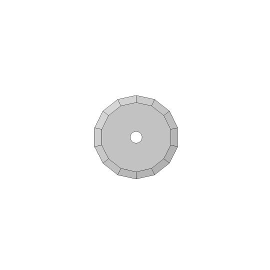 Blade Biesse compatible - 01060217 - ø 36 mm - ø inside hole 5 mm