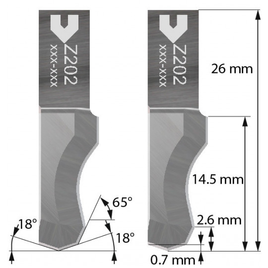 Blade compatible with Zund - 5209985 - Z202
