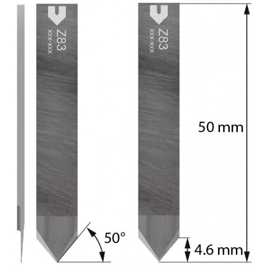 Blade - 5206878 - Z83 - Cutting thickness up to 4.6 mm