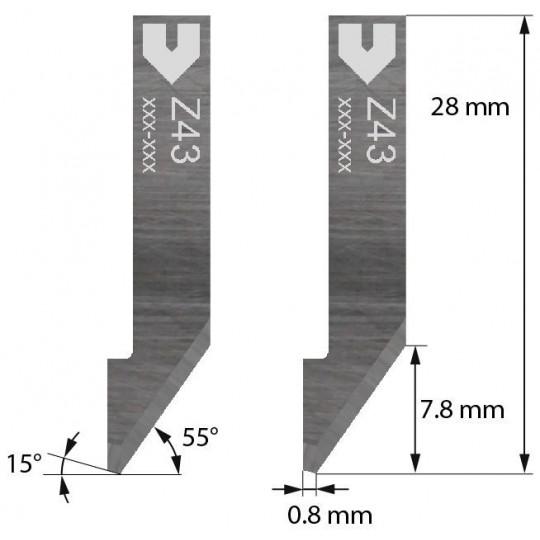 Blade Z43 - Max. cutting depth 7.8 mm