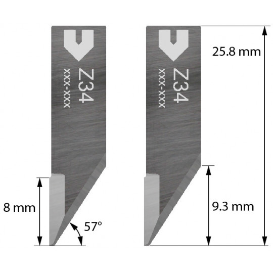 Blade 3910334 - Z34 - Cutting thickness up to 5 mm