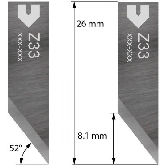 Blade 3910333 - Z33 - Cutting thickness up to 8.1 mm