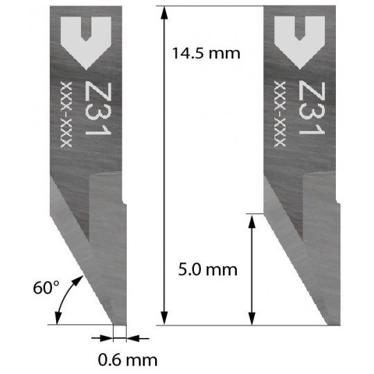 Blade 3910331 - Z31 - Cutting thickness up to 2.0 mm