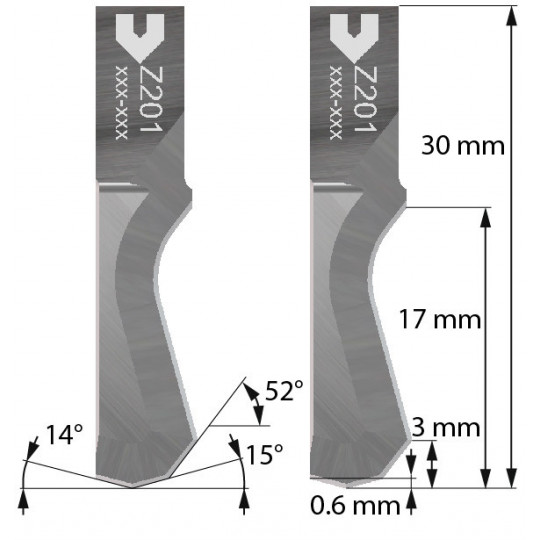 Blade - 5209201 - Z201 - Cutting thickness up to 16 mm