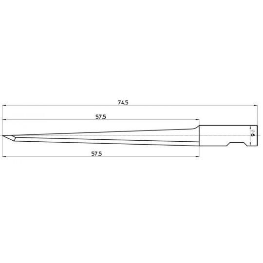 Blade 46343 - Max. cutting depth 58 mm