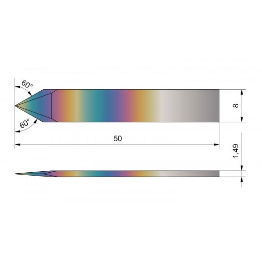 Flat blade Aristo compatible 11B - Max. cutting depth 6.9 mm