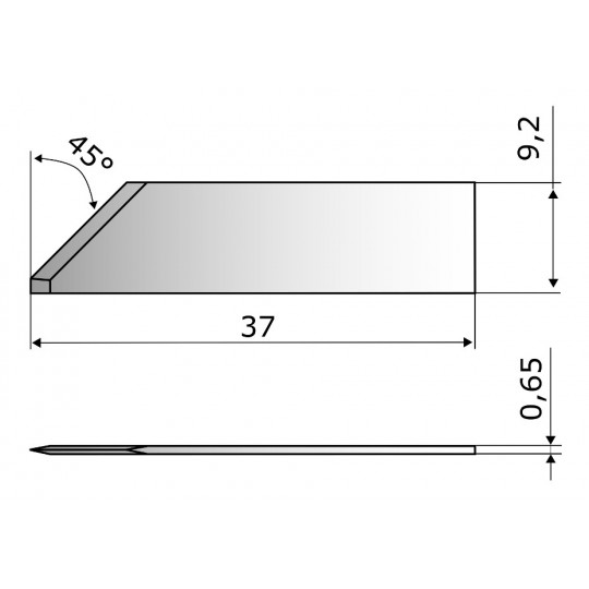 Flat blade 4481 for abrasion Aristo compatible - Max. cutting depth 8 mm