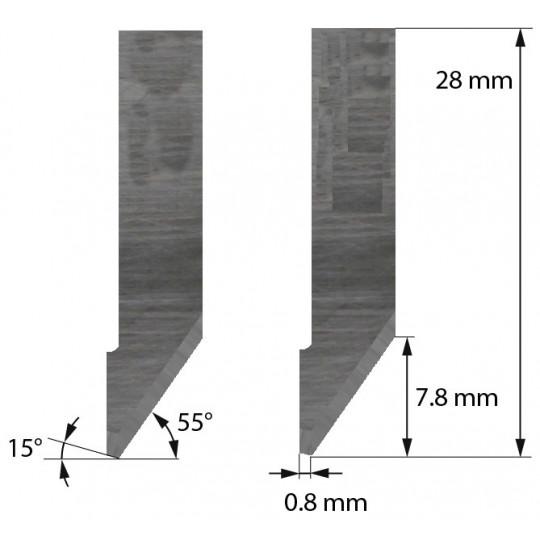 Blade Morgan Tecnica compatible - Z42 - Max. cutting depth 7.8 mm