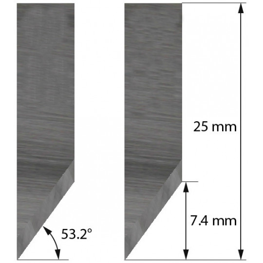 Blade 3910306 - Z16 - Max. cutting depth 7.4 mm - Morgan Tecnica compatible