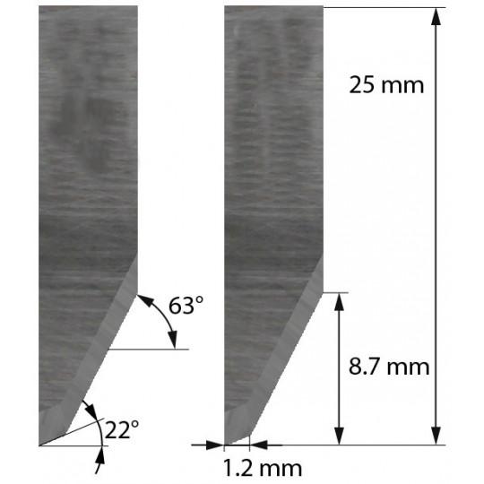 Blade Morgan Tecnica - Z26 - Max. cutting depth 8.7 mm