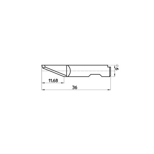 Blade 43291 - Max. cutting depth 12 mm