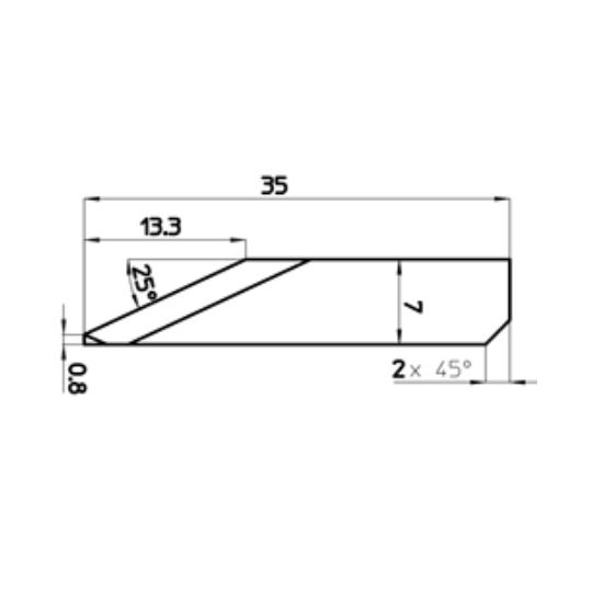Blade 45376 - Max. cutting depth 13.3 mm