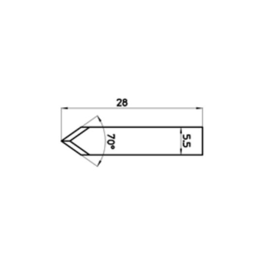 Blade 45487 - Max. cutting depth 3.5 mm