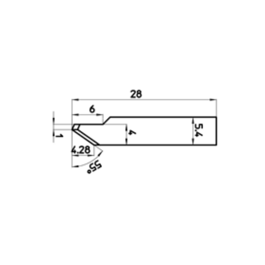 Blade 45762 - Max cutting depth 4.28 mm