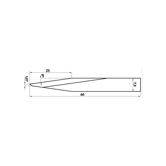 Blade 45832 - Max cutting depth 25 mm