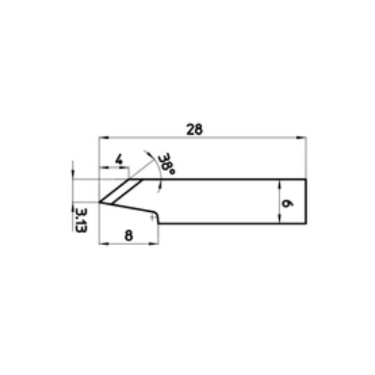 Blade 46232 - Max. cutting depth 4 mm