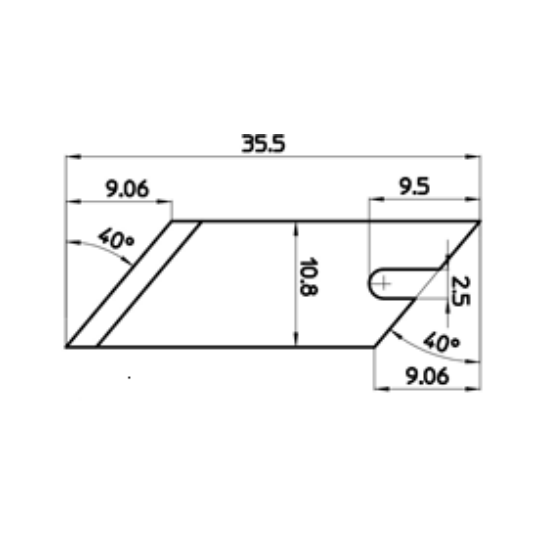 Blade 46272 - Max. cutting depth 9.06 mm