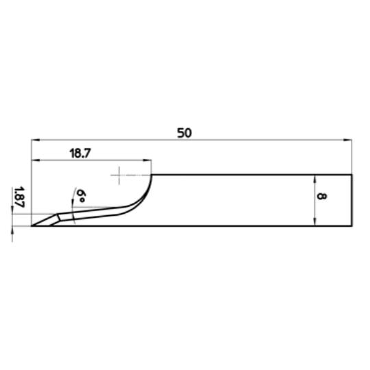 Blade 46348 - Max. cutting depth 18.7 mm