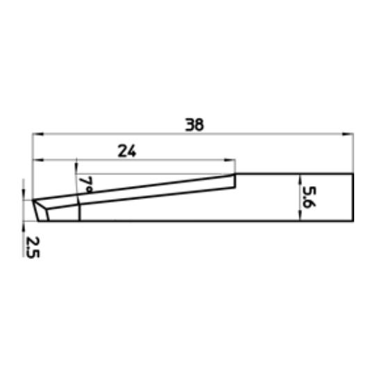 Blade 46504 - Max. cutting depth 24 mm