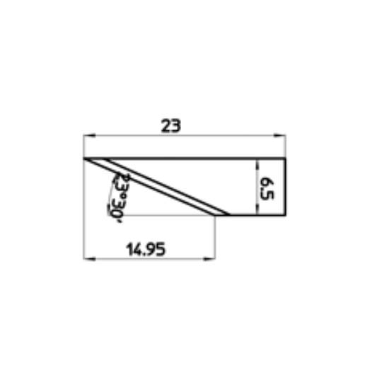 Blade 46616 - Max. cutting depth 14.95 mm