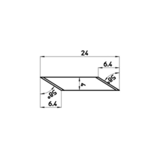 Blade 46617 - Max. cutting depth 6.4 mm