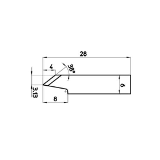 Blade 46654 - Max. cutting depth 4 mm