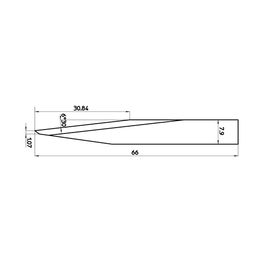 Blade 46759 - Max. cutting depth 30.84 mm