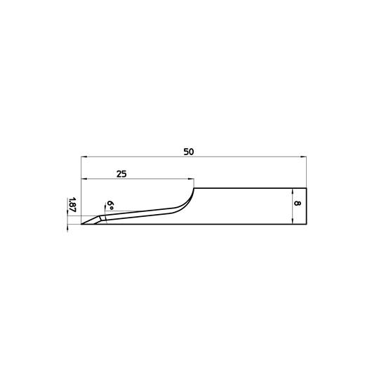 Blade 46807 - Max. cutting depth 25 mm