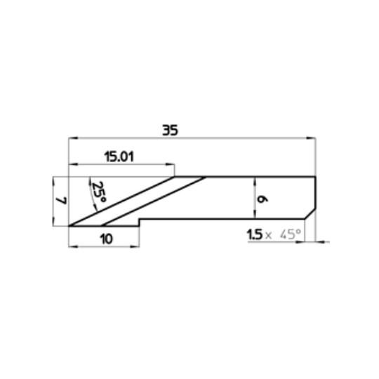 Blade 47108 - Max. cutting depth 15.01 mm