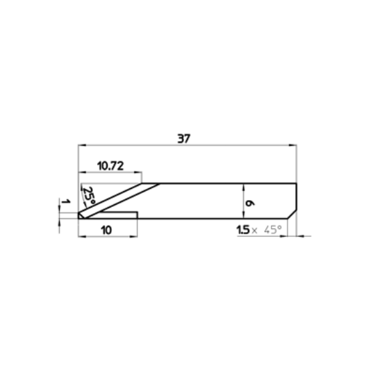 Blade 47270 - Max. cutting depth 10.72 mm