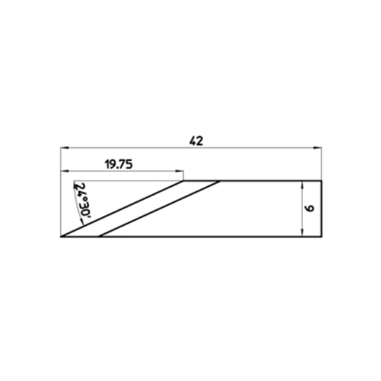 Blade 47461 - Max. cutting depth 19.75 mm