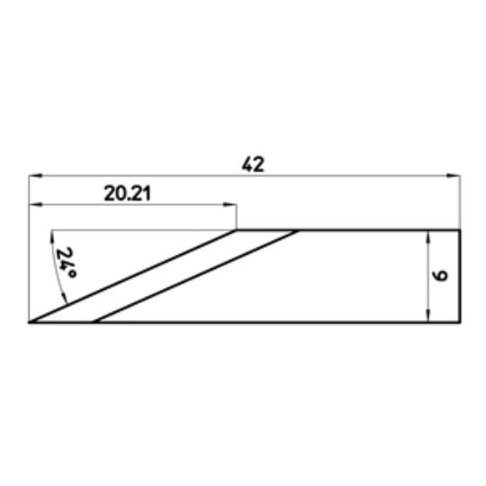 Blade 47462 - Max. cutting depth 20.21 mm